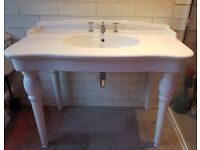 Fired Earth Versailles Sanitarywear Large Console Basin Sink - Traditional Legs