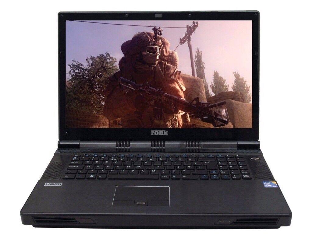 ROCK EXTREME 795 17 Gaming Laptop i7- 12GB Ram 1000GB SSD HD6970 2GB ATI XT