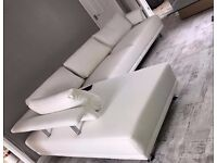 LUCCA Delivery 1-10days BRAND NEW ROMA LEATHER OR FABRIC CORNER SOFA We Can Delivered