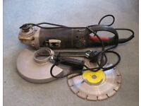 Wickes 230mm Angle Grinder with diamond cutting disc