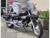 2012 Hyosung GV250 Aquila chopper Black n chrome SUPERB! New MOT BARGAIN!!!