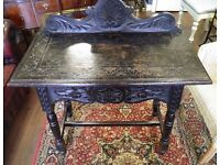 Stunning Ebonised Victorian Side Table - WE CAN DELIVER ACROSS THE UK
