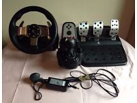 Logitech G27 Racing Wheel, Pedals and Shifter