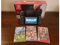 Nintendo Switch + ZELDA + MARIO + MARIO KART 8