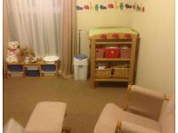 John Lewis changing table and rocking chair