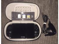 Sony PS Vita Bundle - 3 Games (Uncharted/Mortal Kombat/Fifa), 4GB Memory Card, Case & Charger