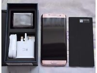 Samsung S7 Edge - Pink Gold - Boxed As New - Unlocked (not tied to a contract)