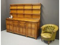 Lovely Large Ercol Welsh Dresser in Golden Dawn.Excellent condition..Delivery Possible.