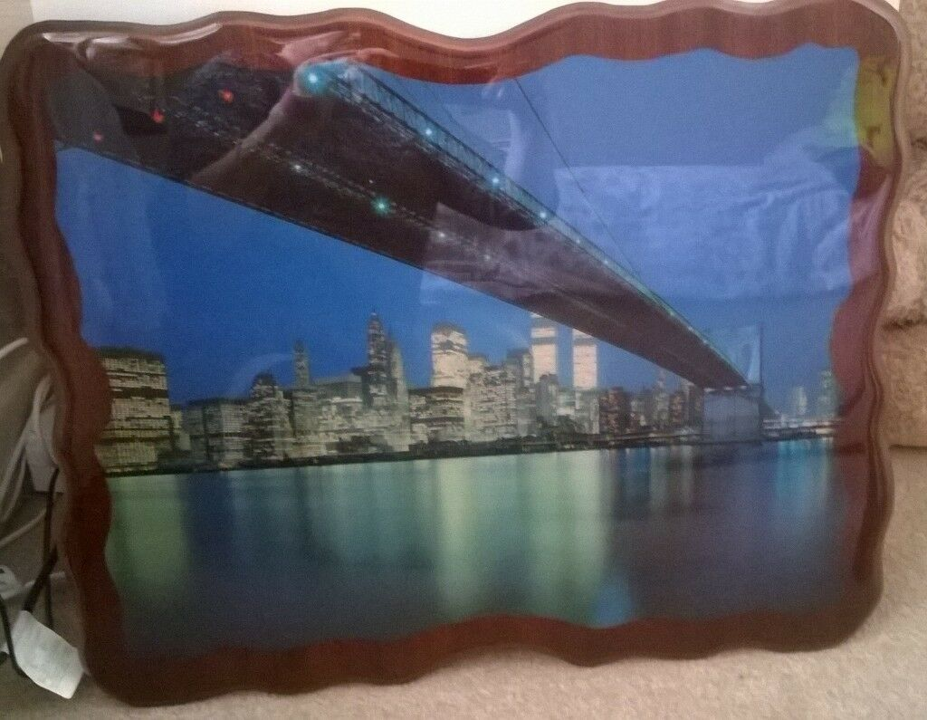 Carved picture.bridge scenic twin towers