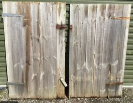 2x Small Shed Doors
