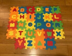 Mini foam alphabet tiles