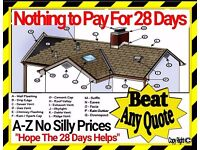 """""""Nothing To Pay 28 Days""""1 HOUR FREE QUOTE (No""""SILLY"""" Prices)BIRMINGHAM 24/7""""Roofing Repair Service"""""""