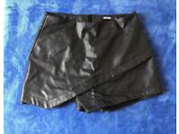 Missguided Leather shorts
