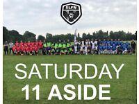 SATURDAY 11 ASIDE, PLAY FOOTBALL ON SATURDAY, 11 ASIDE FOOTBALL TEAM