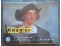 Dual Pack Of Vintage Piatnik 'Columbus' Playing Cards (boxed)
