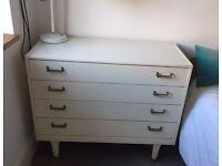 White teak G Plan vintage original mid century chest of drawers for bedroom Danish