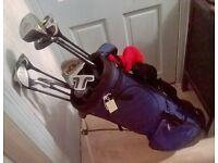 golf set. REDUCED. Hippo golf bag with TI Titanium matrix evolution oversize golf set, golf clubs