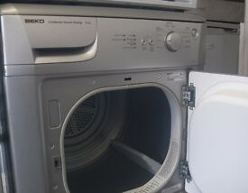 Silver Beko 6kg Condenser tumble dryer with sensor dry