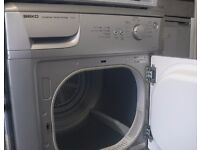 Silver Beko 6kg Condenser tumble dryer with sensor dry