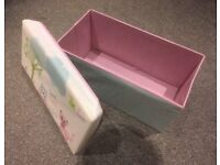 Chad Valley Upholstered Collapsible Toy Storage Box Chest Ottoman