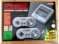 Super Nintendo Classic Mini, new and unopened.