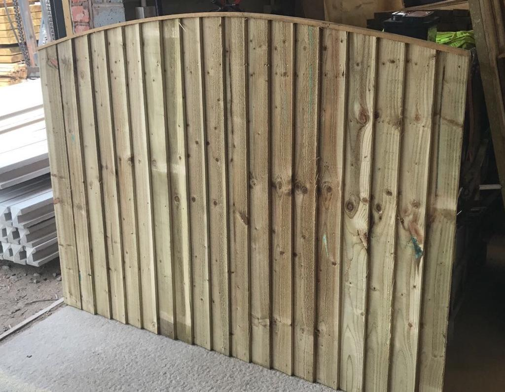 🌻Pressure Treated Arch Top Wooden Garden Fence Panels