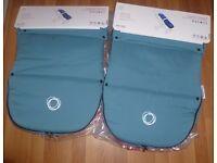 2x BUGABOO PETROL BLUE FOOT MUFFS (BRAND NEW)
