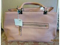 Peach leather bag