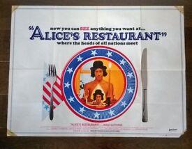 aldo guthrie ' alice's restaurant ' original 1960s cinema poster