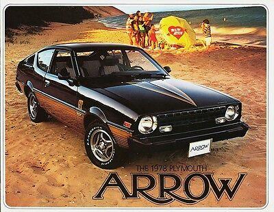 1978 Plymouth Arrow Arrow GS Arrow GT Dealer Sales Brochure ()