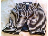 Kew 159 navy and white pinstriped jacket size UK XS