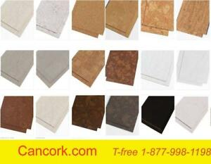 Cork tiles are perfect for the bathroom, 100% water proof, soft, warm, comfortable, durable, resilient