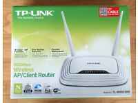 TP-Link 300Mbps Wireless Internet Router AP/Client. Multipurpose Wifi 4port + WAN TL-WR843ND Boxed