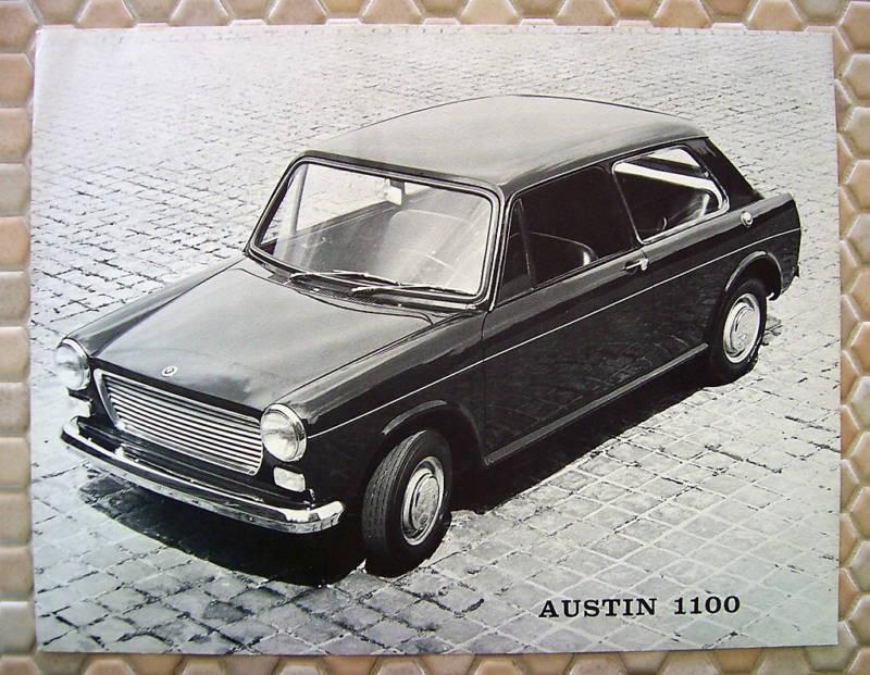AUSTIN OFFICIAL 1100 ORIGINAL SALES SHEET BROCHURE 1968 USA EDITION