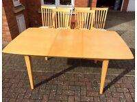 6 or 4 Seater Dining Room Table & 6 Matching Chairs