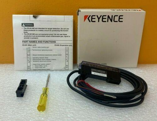 Keyence ES-M1 12-24 VDC P-P, 25mA, N.O / N.C Switchable, Amplifier Unit. New!