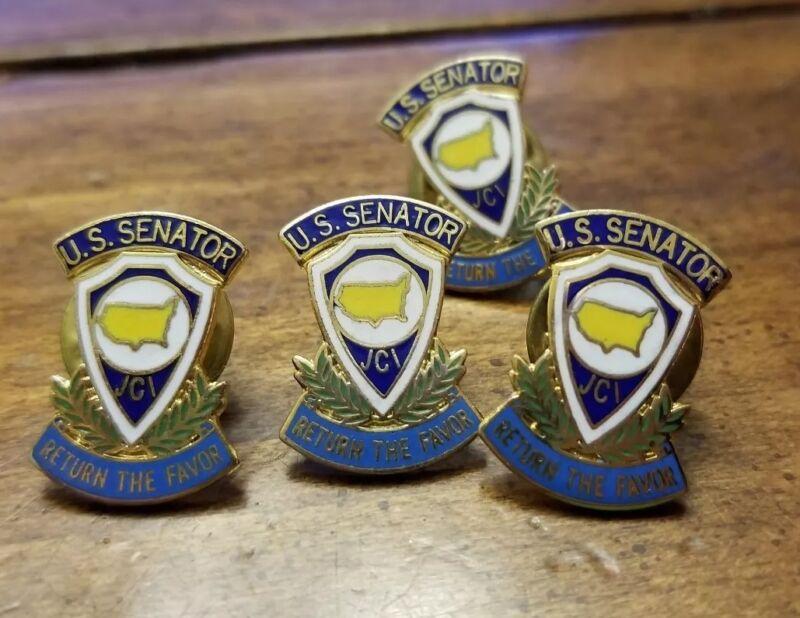 Lot 4 Vintage Jaycees JCI Region III US Senate PIN Blue State Collectors Junior