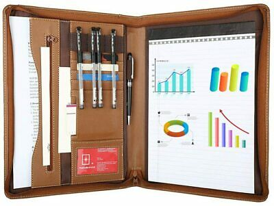 A4 File Folder Padfolio Writing Pad Business Presentation Folder Portfolio Brown