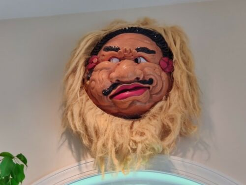 Vintage Mexican Carved Handpainted Guerrero Mask
