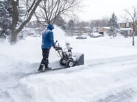 Snow removal driveways roofs any time anywhere