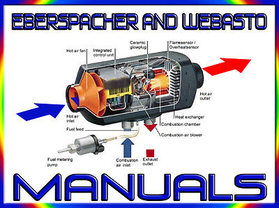 EBERSPACHER & WEBASTO HEATER REPAIR,SERVICE MANUALS DVD