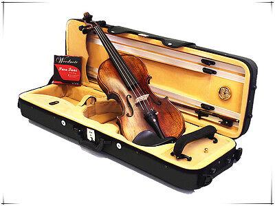 4//4 Violin+Half Moon Case+Bow+Rosin+String set//Gift-PL