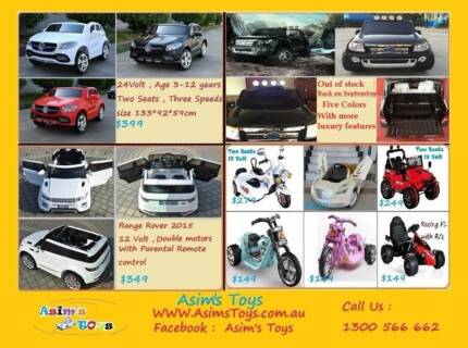 Great Range of kids Ride on Cars 24Volt ,12 Volt Greenacre Bankstown Area Preview
