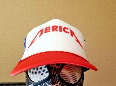Merica Trucker Hat (MERICA Miller Beer American Badass Trucker Cap Hat 4th of July Metallica)