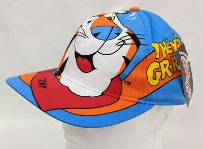 Vintage Kellogg's Tony the Tiger Snapback Hat Cap ~ Frosted Flakes 1990s NWT