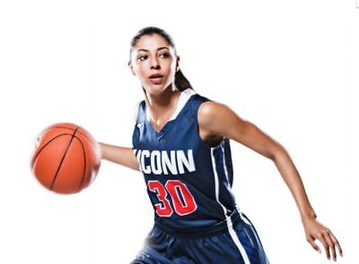 New Nike Women's M UConn Elite Breakaway Basketball Jersey #30 Navy / Red $65 for sale  Pearland