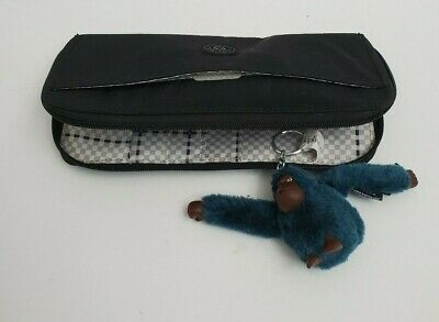 Kipling Wallet Long Black Classic Snap Organizer & New Josse Teal Monkey Key