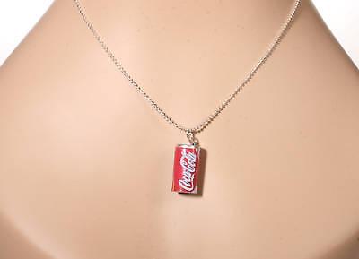 Coca Cola Charm Necklace Coke Soda Pop 50's Vintage Car