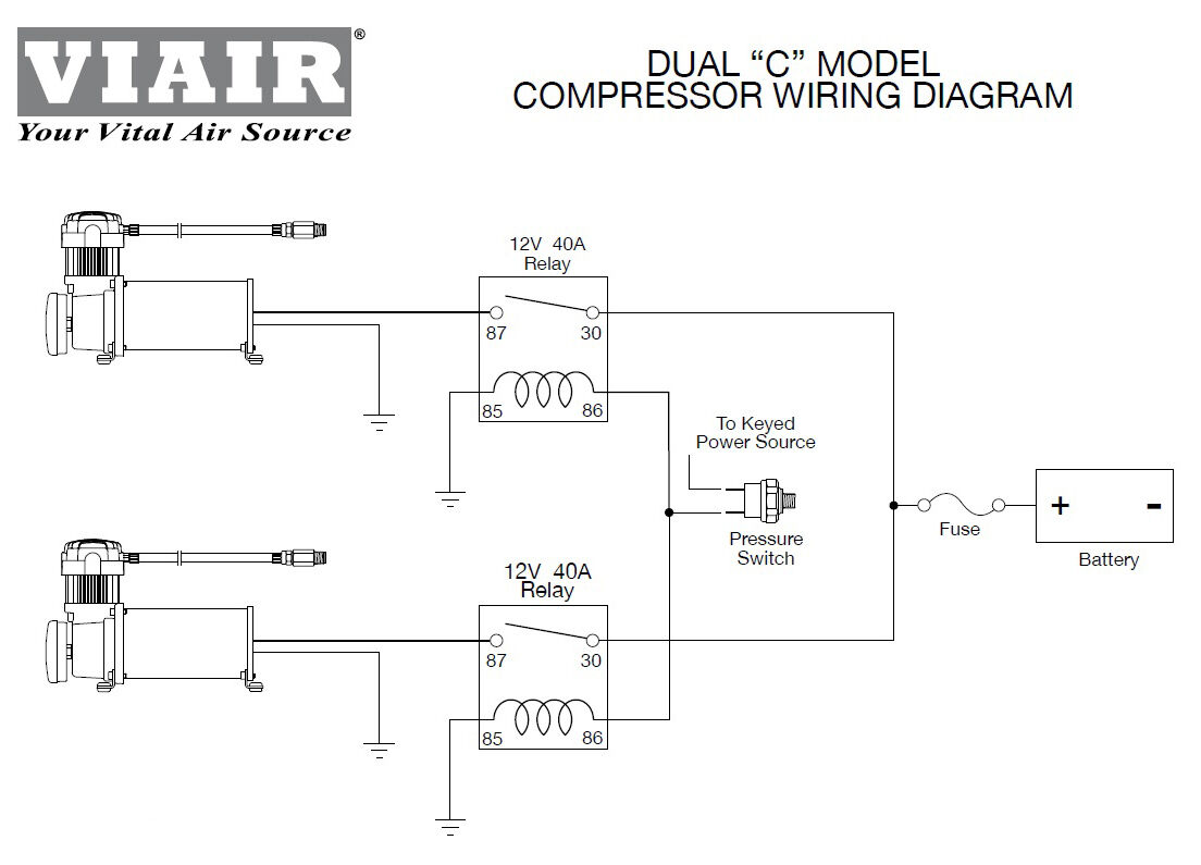 Air Bag Suspension Compressor Your Lowrider Switches Wiring Diagrams Of Viair Dual Pack Compressors Chrome Off Road 1104x795