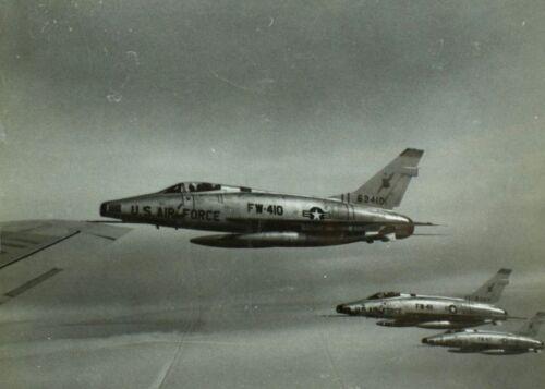 "Vintage Original F-100D-75 Super Sabre U.S. Military 8"" X 10"" Photo Scarce! C2"